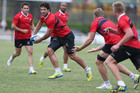 The Sharks in action during a training session. Photo / Getty Images