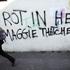 Anti Margaret Thatcher graffiti adorns a wall on the Falls Road in west Belfast, Northern Ireland. Photo / AP