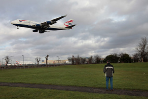 A man who fell from a plane near Heathrow Airport in London has been identified. Photo / AP
