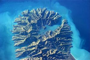 A view of Banks Peninsula taken from space by NASA astronaut Thomas Marshburn. Photo / Thomas Marshburn