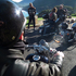 On board's Aubrey's Harley Davidson Dyna. Photo / P.K. Stowers