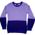 Snug sweaters with graphic prints make a fun - and sensible - winter purchase. Kylee Davis purple merino jumper $446. Photo / NZH