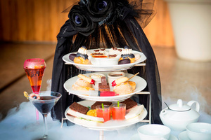 The Addams Family high tea, at the Sofitel in Sydney. Photo / Supplied