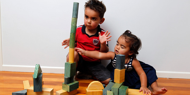 Appealingly easy, blocks create endless opportunities for learning and play.  Photo by Michael Craig
