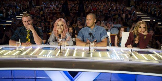 X Factor NZ judges (from left) Daniel Bedingfield, Ruby Frost, Stan Walker and Melanie Blatt.  Photo / Supplied