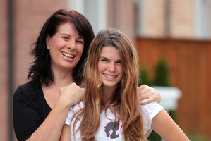 Pictured is Junior Miss NZ pageant contestant Ella Clarkson with mother Kyla at home in Albany Auckland. Photo / Doug Sherring