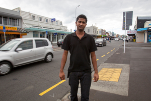 Raj Shah, manager of Valentines, said some of his diners saw the accident. Photo / Kellie Blizard