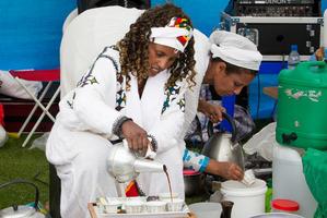 Ethiopian coffee at the Auckland Cultural Festival. Photo / Kellie Blizard