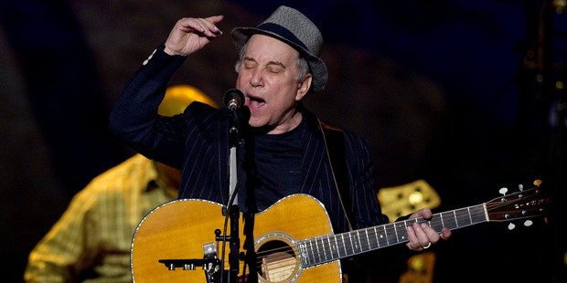 Paul Simon at Vector Arena last night. Photo / Sarah Ivey