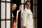 Geisha meets US navy officer - Antoinette Halloran as Madam Butterfly and Piero Pretti as Pinkerton. Photo / Supplied