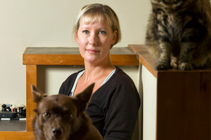 Belinda Frederiksens will have the microchips in her five pets checked. Photo / Michael Craig
