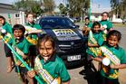 Pukekohe North Primary School's kapa haka group will be on the starting grid at Pukekohe this weekend. Photo / Christine Cornege