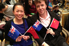 Davina Lach and Tony Fiddis are both Victoria University students who are studying at Peking University in Beijing. Photo / Audrey Young