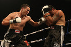 Joseph Parker (left) fighting Richard Tutaki at the Fight for Life charity event last year. Photo / Sandra Mu