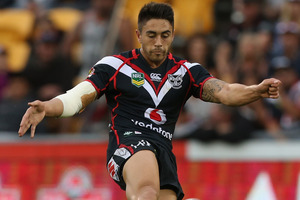 Shaun Johnson believes the Warriors must work on building pressure. Photo / Getty Images