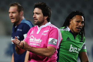 Steve Walsh initially misread the severity of Ma'a Nonu's shoulder charge during last weekend's Blues-Highlanders clash. Photo / Getty Images