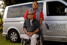 Heart attack victim Sam Kuha and his saviour, taxi driver Dan Koriwha. Photo / Malcolm Pullman