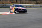 Jamie Whincup tries out the newly completed Pukekohe Park track. Picture / Ross Land