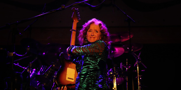 Bonnie Raitt's set ranged from soulful to rockin'. Photo / AP