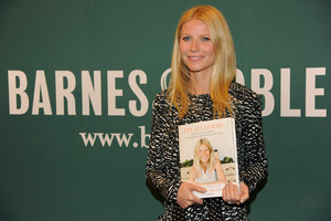Gwyneth Paltrow poses with her new book It's All Good: Delicious, Easy Recipes That Will Make You Look Good and Feel Great.Photo / AP