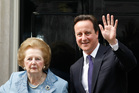 David Cameron says: 'Margaret Thatcher didn't just lead our country - she saved our country.' Photo / AP