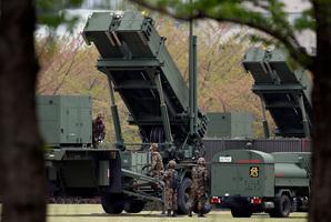 Japan Self-Defense Forces' personnel man PAC-3. Photo / AP