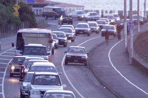 The lights on Tamaki Drive will all be upgraded. Photo / Martin Sykes