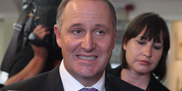 Prime Minister John Key during his media grilling over the appointment of GCSB head Ian Fletcher during his press conference in Porirua. Photo / Mark Mitchell