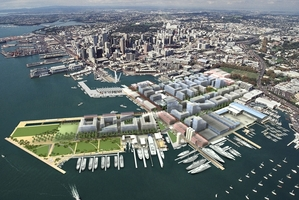 An artist's impression of how Wynyard Quarter might look after its development. Photo / Supplied