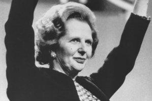 Margaret Thatcher at the British Embassy in Washington in 1977. Photo / NZ Herald