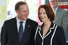 Prime Minister John Key and the Australian Prime Minister Julia Gillard. File photo / Greg Bowker