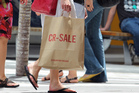 Shoppers and sale bags at Sylvia Park Shopping Mall. Photo / Janna Dixon