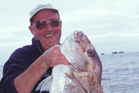 Geoff Thomas with his catch. Photo / Supplied