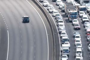 Further urban sprawl will add to Auckland's gridlocked highways. Photo / Brett Phibbs