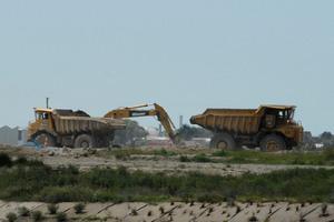 Excavation work at the former Wigram airbase. Photo / File / Geoff Sloan