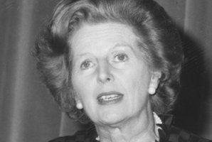 Margaret Thatcher when she was British Prime Minister. Photo / Supplied