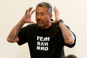 Mike King talks about suicide, Whangarei Public Library. Photo / Michael Cunningham