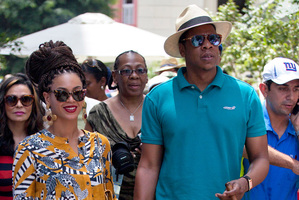 Beyonce and Jay-Z in Cuba. Photo / AP
