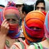 Women with their bodies painted participate in the March for Peace in Bogota, Colombia. Photo / AP