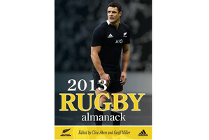 2013 Rugby Almanack by Clive Akers and Geoff Miller. Photo / Supplied