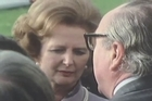"""The former leader of Sinn Fein Gerry Adams, who clashed with Margaret Thatcher over the fate of Northern Ireland, on Monday said the former British prime minister had played a """"shameful role' in hunger strikes and had pursued a draconian policy of militarism. Thatcher died on Monday from a stroke."""