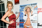 Kate Upton and her Sports Illustrated Swimsuit Edition cover shot. Photo/AP