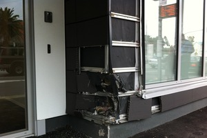 Wellington's Ronald McDonald House sustained damage after a driver's vehicle left the road. Photo / APNZ
