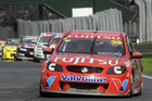 Scott McLaughlin leading the way at Pukekohe. Photo / Geoff Ridder