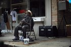 Blues artist Richard Pryor performs outside the Rock & Blues Museum in Clarksdale, Mississippi. Photo / AFP