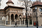 The Stavropoleos monastery, built in 1724, in the old part of Bucharest, Romania. Photo / AP