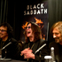 Black Sabbath's Ozzy Osbourne flanked by Tony Iommi (left) and Geezer Butler in Auckland yesterday. Photo / Brett Phibbs