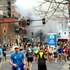 Photo provided by Bob Leonard shows people running away from a blast during the Boston Marathon, in Boston.  Photo / AP