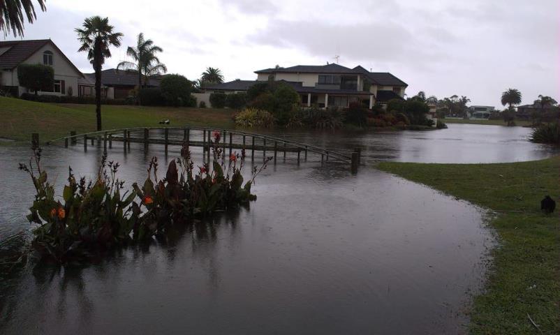 Flooding Papamoa 20 Apr 2012