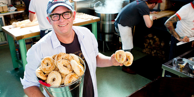 Celebrity chef Al Brown has recently opened 'Best Ugly Bagel' take away bagel cafe at at the City Works Depot. Photo / Babiche Martens